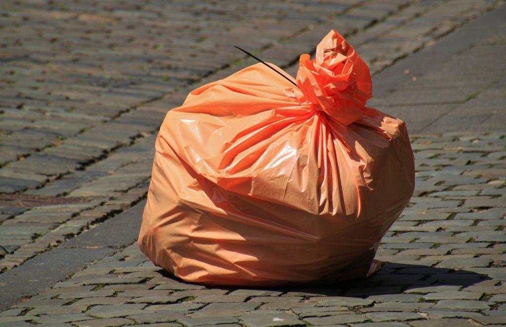 sac en sachet d'ordure