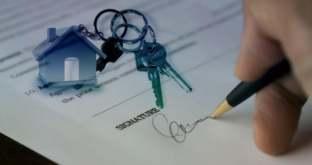 signature contrat immobilier